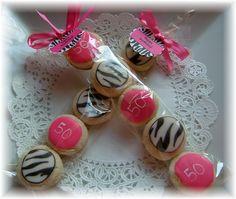 zebra party favors for boys   Zebra Print Party Pack cookies (3 pks)