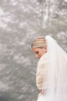 Image by Vue Photography at The Farm at Old Edwards Inn and Spa in Highlands, NC. Silver Winter Wedding, Winter Bride, Christmas Wedding, Wedding Images, Wedding Themes, Wedding Styles, Wedding Dresses, Wedding Ideas, Southern Weddings