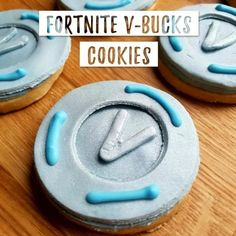 V bucks fortnite cookies or biscuits 9th Birthday Parties, 12th Birthday, Birthday Bash, Birthday Ideas, Nerf Party, Army Party, Battle Party, Birthday Decorations, Birthdays