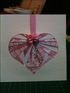 Wedding card using iris folding technique