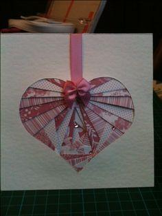Wedding card using iris folding technique