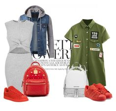 """""""red"""" by evelina-hagstrom on Polyvore featuring River Island, MCM, MICHAEL Michael Kors, adidas Originals and adidas"""
