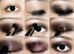 Kristen Stewart Burgundy Smokey Eye TutorialKristen Stewart's looks on the red carpet have been hit or miss. This burgundy smokey eye look happens to be one of the more popular ones and is my favou…