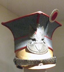 AH Polish Legion - Czapska of Wachtmeister of Uhlan Regiment of Polish Legions with eagle cap badge. Military Cap, Military Uniforms, Military Style, Austria, Army Hat, War Of 1812, Fashion Articles, Napoleonic Wars, Toy Soldiers