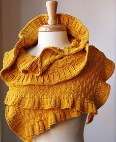 Rococo Cotton and Merino Knit Wrap Shawl by Tickled Pink Kints on Etsy, $265.00