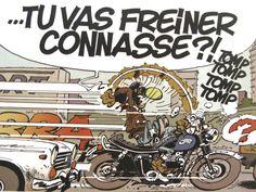 Joe bar team est une série de bandes dessinées humoristiques qui suit les péripéties d'une bande de motards se retrouvant régulièrement au Joe Bar. Jean-Raoul Ducable, Éd