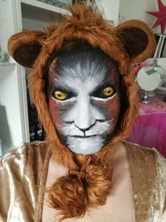 Lion Löwe Fasching Mottoparty Karneval Party Event Maskenball Halloween Face Makeup, Mask Party, Carnivals