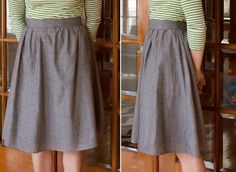 DIY: Making A Gathered Skirt with Band From an Old Elastic Skirt | Say Yes
