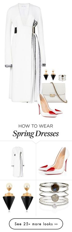 """""""Front Row @ Proenza Schouler Spring 2016 Fashion Show - Part 1."""" by foreverforbiddenromancefashion on Polyvore featuring Proenza Schouler, Christian Louboutin, Vita Fede and Accessorize"""