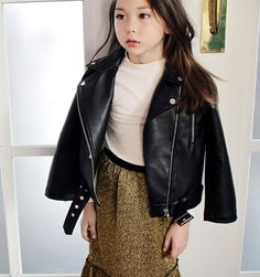 Peach and Cream Rolling Stone Jacket at Color Me WHIMSY - cool kid's fashion made in Korea