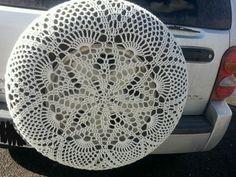 Crochet Handmade Lace Spare Tire Cover~Jeep SUV Customizable