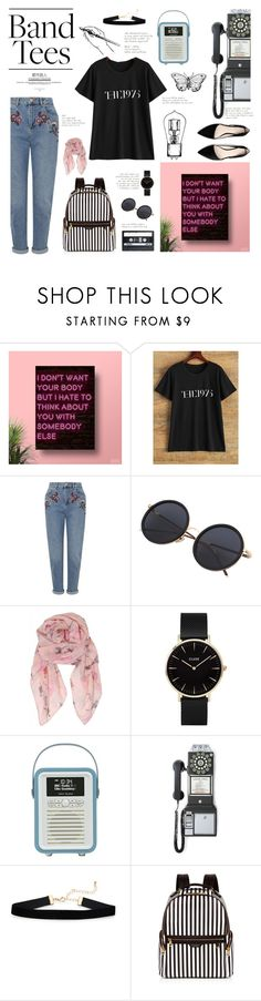 """""""I'm With the Band: Band T-Shirts"""" by silvermist23 ❤ liked on Polyvore featuring Miss Selfridge, Humble Chic, CLUSE, Crosley Radio & Furniture, Henri Bendel, MANGO and vintage"""