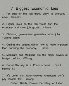 The common thread in these lies is the movement of more wealth to the top 1%.