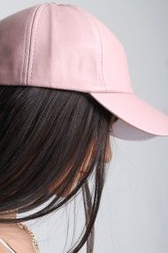 on sale 50313 5b4f2 Free SH   Easy Returns! Shop Vegan Leather Baseball Cap. This chic hat  features