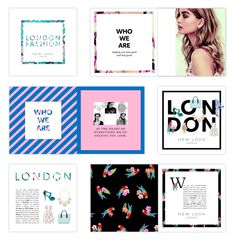 Fashion brochure for New Look retail typography layout graphic design