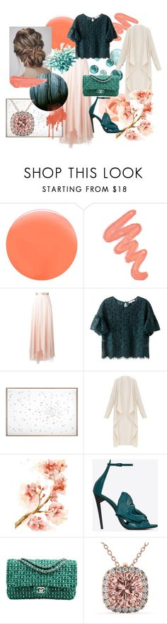 """""""Mistified"""" by anitaslagman ❤ liked on Polyvore featuring JINsoon, Obsessive Compulsive Cosmetics, Lanvin, Natural Curiosities, Yves Saint Laurent, Chanel, Allurez and By Terry"""