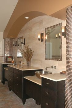 Love this double sink arrangement
