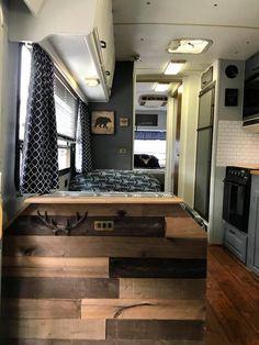 Motorhome Remodel ~ Part 8 (Dinette Block Butcher Block & Sink Cover) Rv Redo, Butcher Block Tables, Trailer Decor, Rv Interior, Trailer Interior, Campervan Interior, Camper Makeover, Camper Renovation, Remodeled Campers