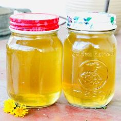 Easy recipe for making or canning homemade dandelion syrup from dandelions, one of the first flowers of spring! You have to try it, it tastes like honey. Ketchup Canning Recipe, Canning Recipes, Easy Canning, Canning Jar Lids, First Flowers Of Spring, Dandelion Benefits, How To Kill Bees, Honey Syrup, Jam And Jelly