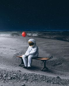 Space sure is a lonely place by Wesley Grim Collage Foto, Astronaut Wallpaper, 7 Arts, Aesthetic Collage, Surreal Art, Photomontage, Belle Photo, Aliens, Lonely