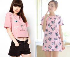 Cat tee and dress