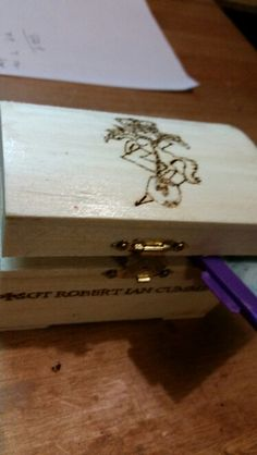 Box, dad, army, pyrography,gift,simple