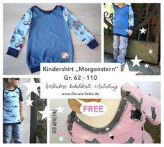 """Kindershirt nähen: """"Morgenstern"""" - Freebook"""