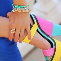 Colorblock Sandal by Giuseppe Zanotti