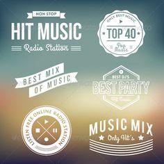 Music Labels - Decorative Symbols Decorative