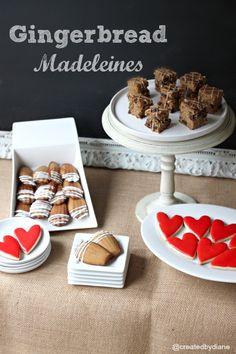 Gingreabread Madeleines @createdbydiane #cookies #gingerbread