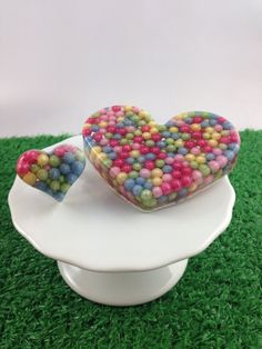 Heart Shaped Resin Brooch and Ring Candy Gift Set by WildPipchicks, $16.25