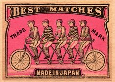 vintage matchbox label: from Japan, circa 1910