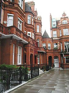 Chelsea, London. This looks exactly like our second house at Tedworth Square.