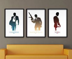 This is a minimalist alternative movie poster for all three of Daniel Craigs 007 movies.    • • • • • • • • • • • • • • • • • • • • • • • • • • •