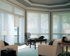 extremely long window treatments | Window Treatments for a Beach House and a Hunter Douglas Blinds ...