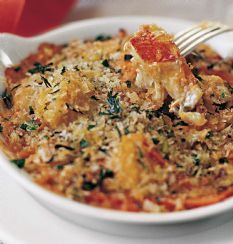 Barefoot Contessa's Seafood Gratin.  Absolutely delicious!