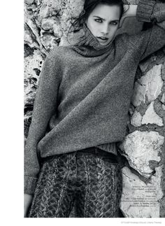 COZY PANTS.  Comfortably Chic: Constanza Saravia for Styleby #27 by Andreas Öhlund & Maria Therese.