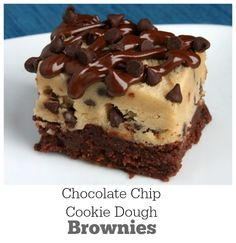 Chocolate Chip Cookie Dough Brownies recipe: a very popular, delicious and easy brownie recipe from RecipeGirl.com. This is a recipe that everyone will ask you to make again and again!