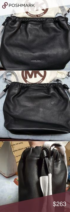 NWT MK Angelina Large black leather shoulder bag NWT MK Angelina Large black leather shoulder bag. Buttery soft leather with dust bag. 15 x 12 x 6. Fantastic bag! Michael Kors Bags Shoulder Bags