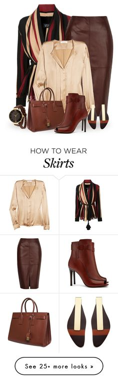 """Fall Office"" by terry-tlc on Polyvore featuring moda, Lanvin, River Island, Chloé, Yves Saint Laurent, Tory Burch, Marni e TKO Orlogi"