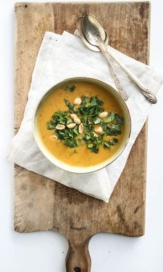 curried coconut and sweet potato soup - Dishing Up the Dirt
