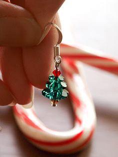 Cook~Love~Craft: Swarovski Christmas Tree Earrings- Step by Step Guide