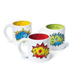 This Big Mouth Toys 'Pow! Bonk! Kapow!' 12-Oz. Mug Set by Big Mouth Toys is perfect! #zulilyfinds