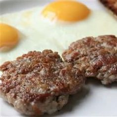 """Chef John's Breakfast Sausage Patties   """"This is a simple breakfast sausage in patty form. So easy! The key is to get freshly and coarsely ground pork shoulder from a real live butcher."""""""