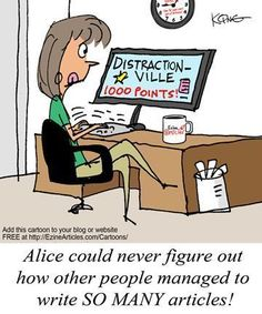 Writing Comic - Distractionville - Writers Write Creative Blog
