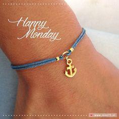 Happy Monday 💙 Mint Fifteen   www.mint15.nl  #sieraden #jewelry #jewellery #jewels #armband #armbanden #armbandje #handmadejewelry #anchor #anker #symbol #blue #monday #happymonday #maandag