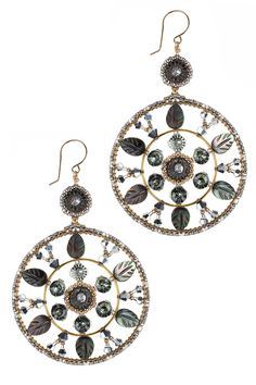 Miguel Ases Abalone Glow Gold Filled Earrings