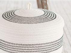 Kostenlose Anleitung Wohndeko: Orientalisches Flair mit einem Korb aus Seil / free diy tutorial: how to make a basket with a rope, oriential style via DaWanda.com
