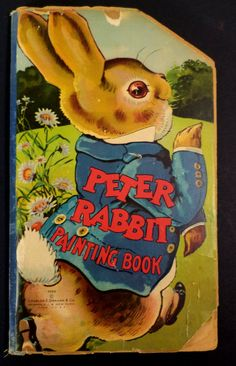 Antique Childrens Peter Rabbit Painting Book - Super Easter Display Book
