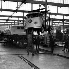 Vintage VW Bus Factory #Volkswagen. #VW. v@e